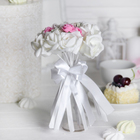 """Букет """"Поздравляю"""" 9 цветов, розовый + белый"""