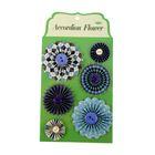 """Набор для творчества """"Бумажные цветы"""" синие оттенки, 6 шт."""