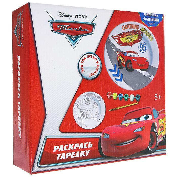 """Набор для росписи керамической тарелки """"Disney. Тачки"""""""