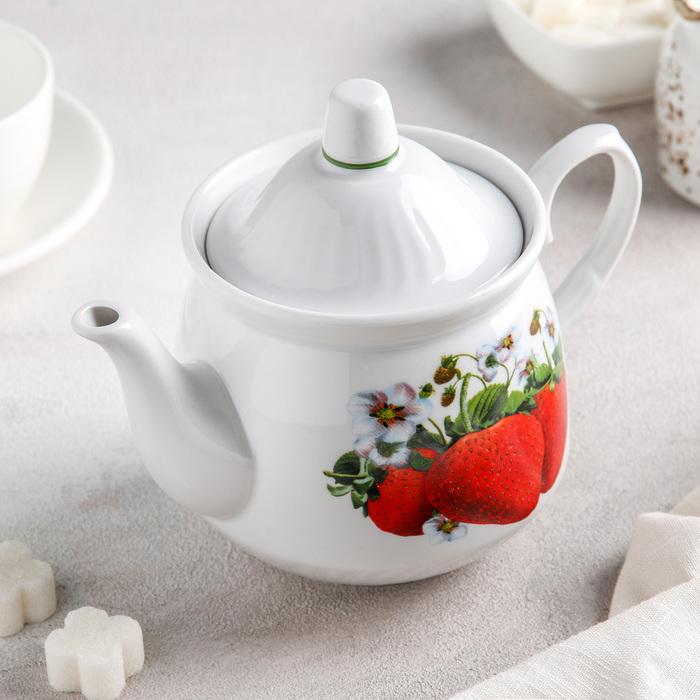 Чайник «Клубника», 550 мл - фото 308140990
