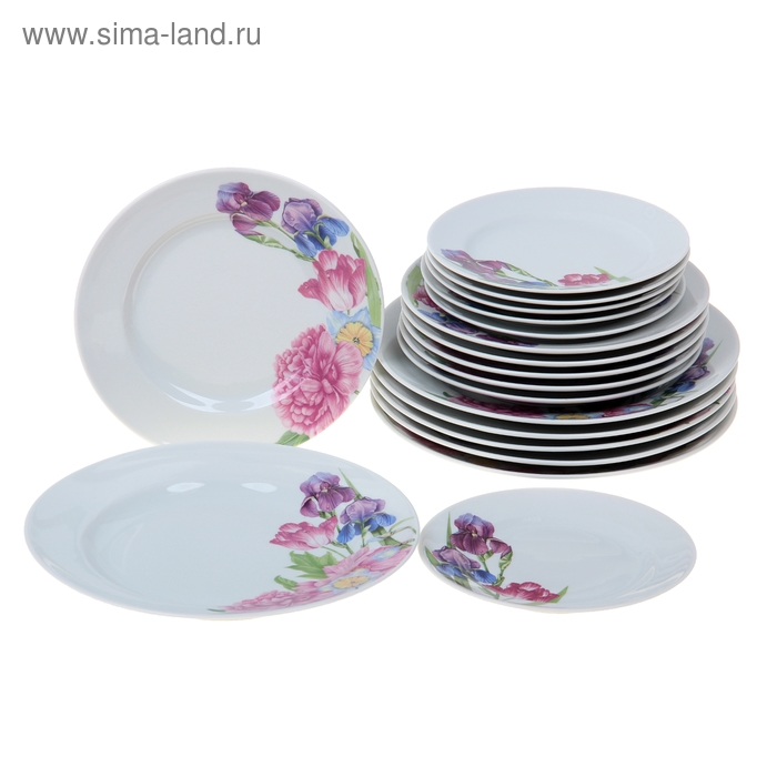 """Набор тарелок 18 предметов """"Английская классика"""""""