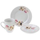 """Набор посуды """"Голландская роза"""", 3 предмета: блюдце 15 см, тарелка 17,5 см, кружка 300 мл"""