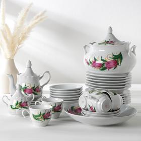 Набор столовой посуды «Колокольчики», 100 мл, 34 предмета