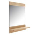 Зеркало 34 х 25 см с полочкой