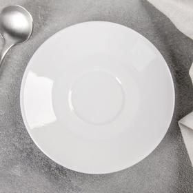"""Блюдце кофейное 11,5 см """"Мокко"""", цвет белый"""