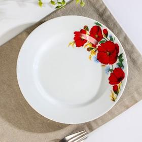 Тарелка мелкая «Маки красные», 20 см