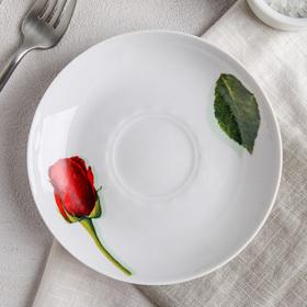 Блюдце «Королева цветов», d=15 см