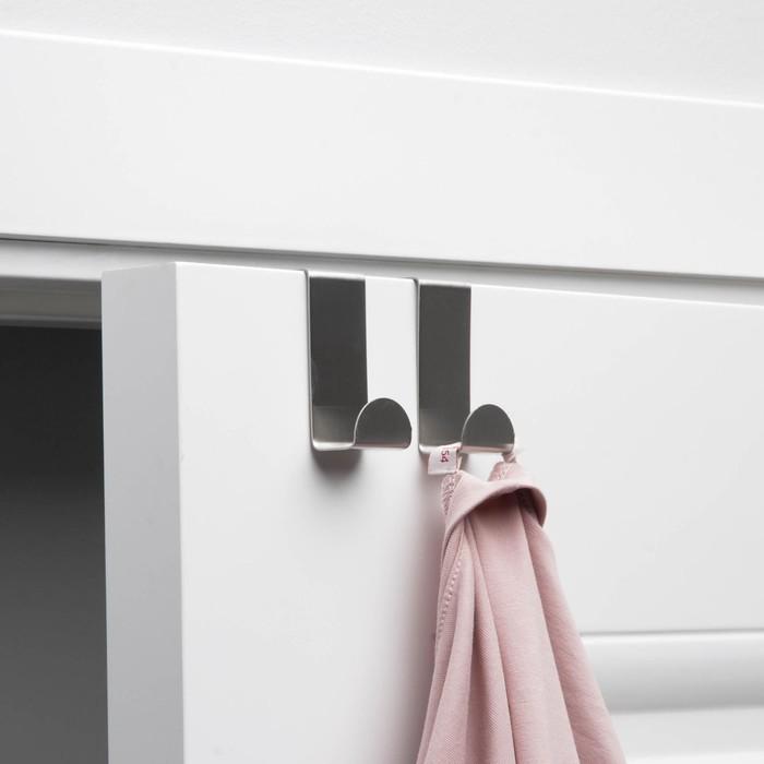 Набор крючков надверных 6х2,5х7 см, 2 шт