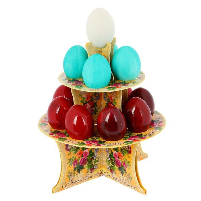 """Подставка пасхальная на 12 яиц """"ХВ. Цветы"""""""