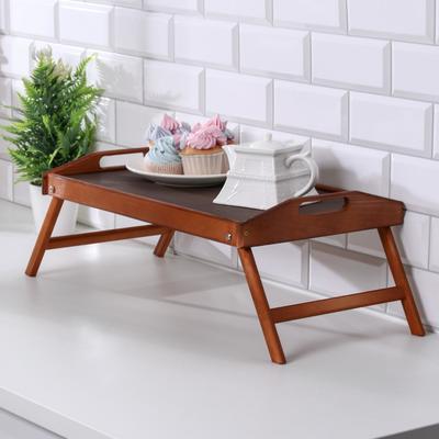 Столик для завтрака складной, 50×30см, с ручками, морёный