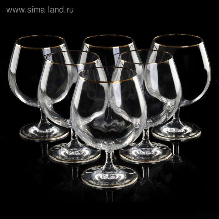 """Набор бокалов для бренди 400 мл """"Гала. Золотая отводка"""", 6 шт"""