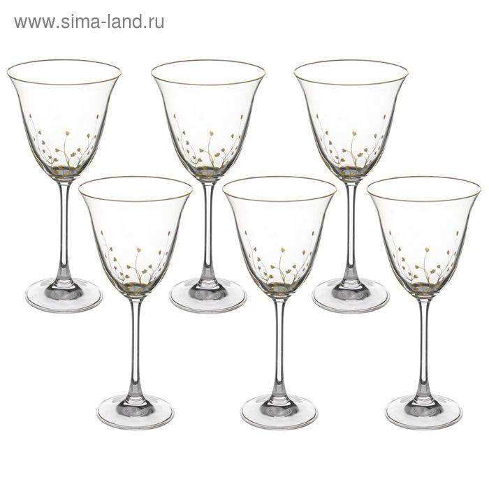 """Набор бокалов для вина 260 мл """"Травка"""", 6 шт"""