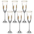 """Набор бокалов для шампанского 160 мл """"Флора. Золотые листья"""", 6 шт"""