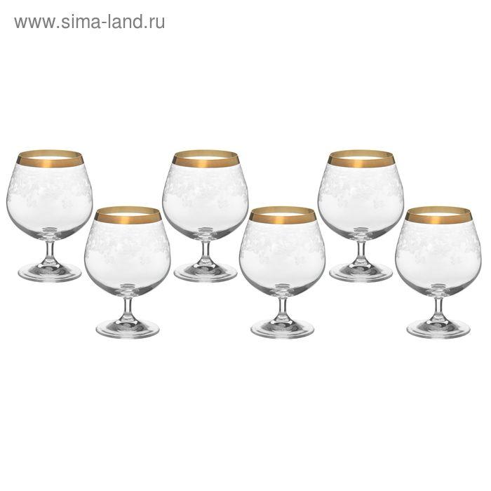 """Набор бокалов для бренди 400 мл """"Цветочный занавес"""", 6 шт"""