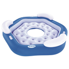 Шезлонг надувной для отдыха на воде для троих, 191х178 см (43111) Bestway