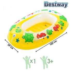 Лодочка надувная «Дельфин», 102 х 69 см, от 3-6 лет, цвета МИКС, 34037 Bestway