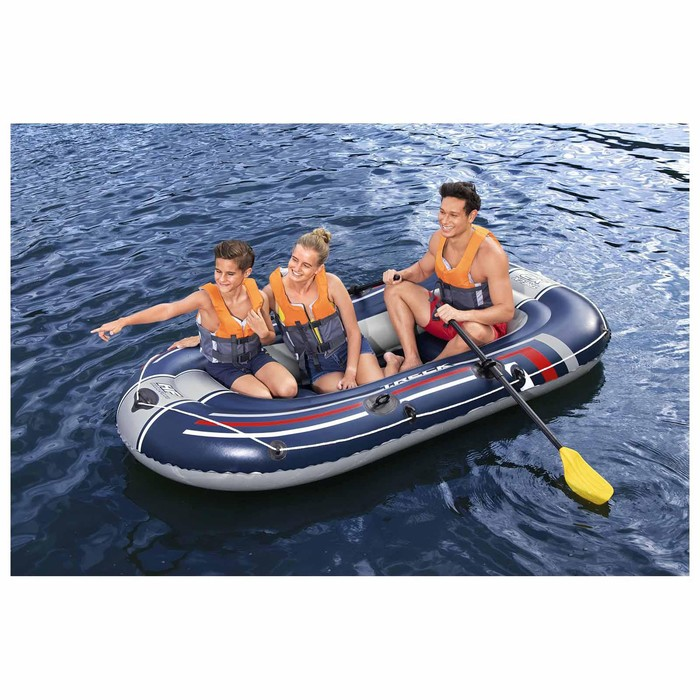 Лодка Treck X2 2-х мест. (весла 124 см, насос) до 225 кг, 255х127х36 см (61068) - фото 262049081
