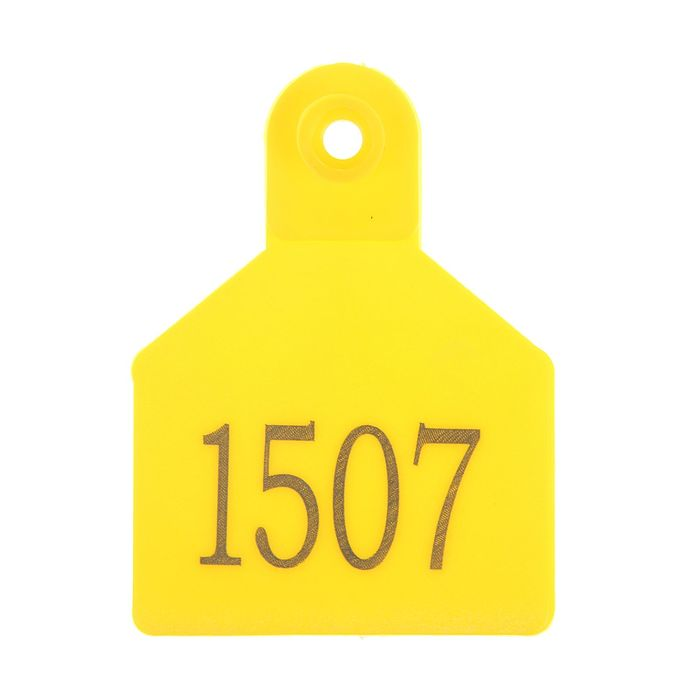 Бирка для КРС универсальная двойная с номерами с 1 стороны, полиуретан