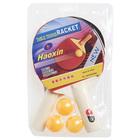 Набор для настольного тенниса, 2 ракетки толщиной 0,5 см, 3 шарика, любительские