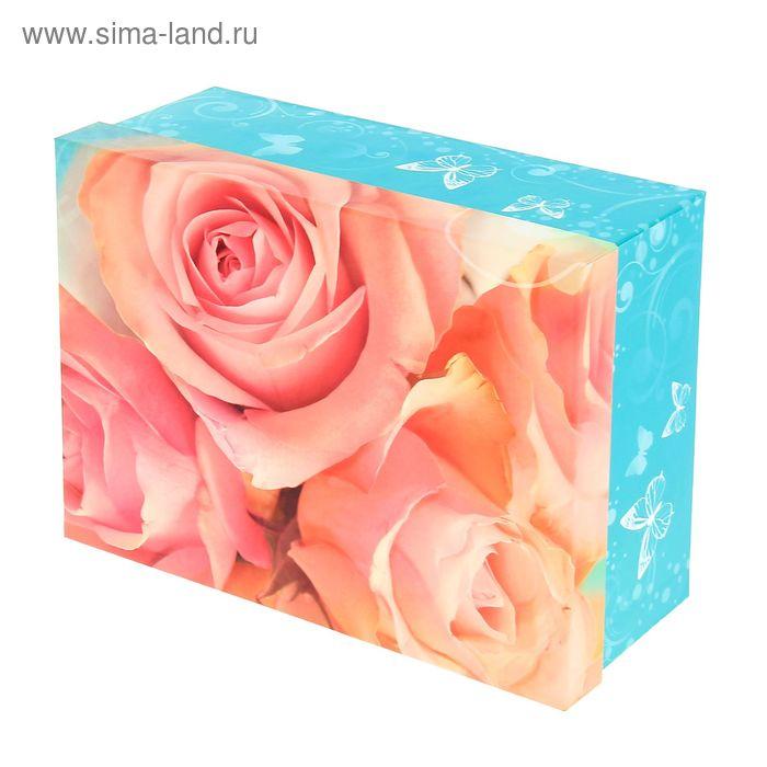 """Коробка """"Восхитительные розы"""", 25,5 х19 см"""