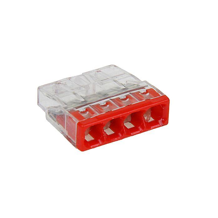 Клемма WAGO 2273-244, четырехпроводная, сечение 2.5 мм2, с пастой, набор 100 шт