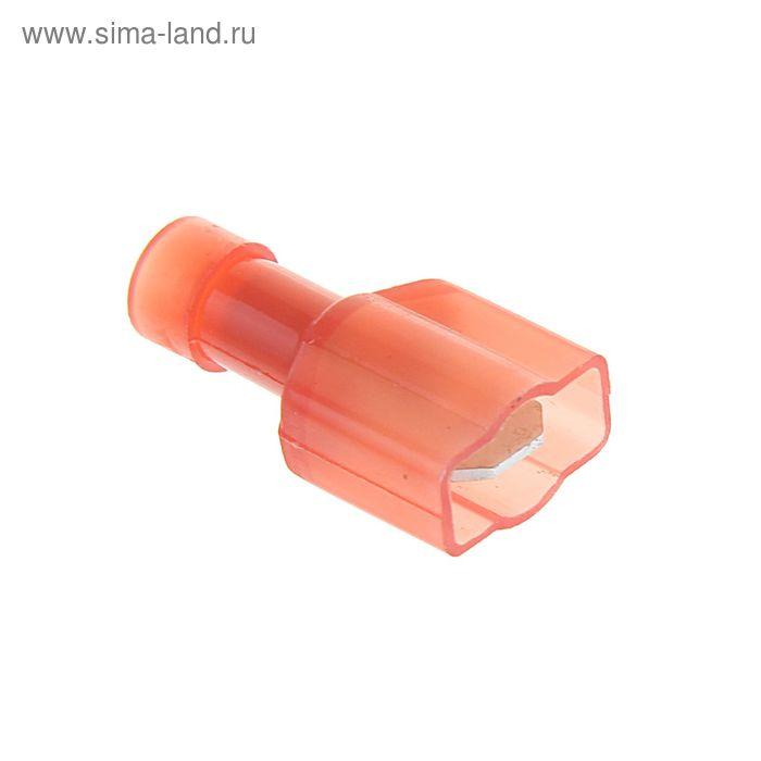 """Разъем плоский изолированный """"внешний"""" сечением 1,5 мм, 6,3 мм, нейлон, РПИ-П(н)"""