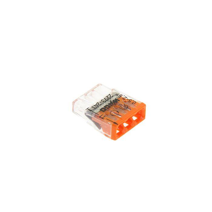 Клемма WAGO 2273-243 компактная 3-проводная сечением 2.5 мм, с пастой, набор 100 шт