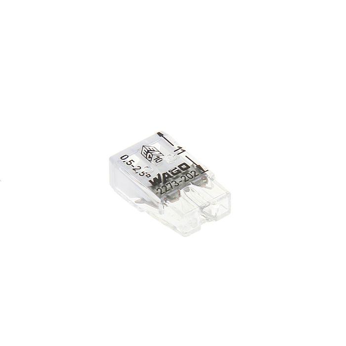 Клемма WAGO 2273-202, компактная, двухпроводная, сечением 2.5 мм2, одножильная, набор 100 шт