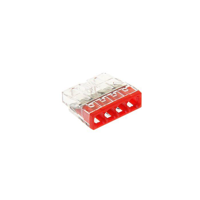 Клемма WAGO 2273-204, компактная 4-х проводная, сечением 2.5 мм2, одножильная, набор 100 шт