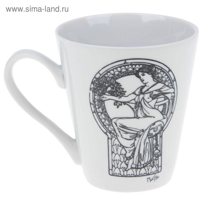 """Кружка 250 мл """"Альфонс Муха"""", декор МИКС"""