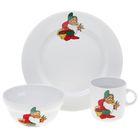 """Набор детской посуды """"Гномы"""", 3 предмета: тарелка 20 см, салатник 335 мл, кружка 210 мл, декор МИКС"""