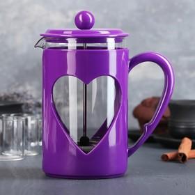 Френч-пресс Доляна «Комплимент», 800 мл, цвет фиолетовый