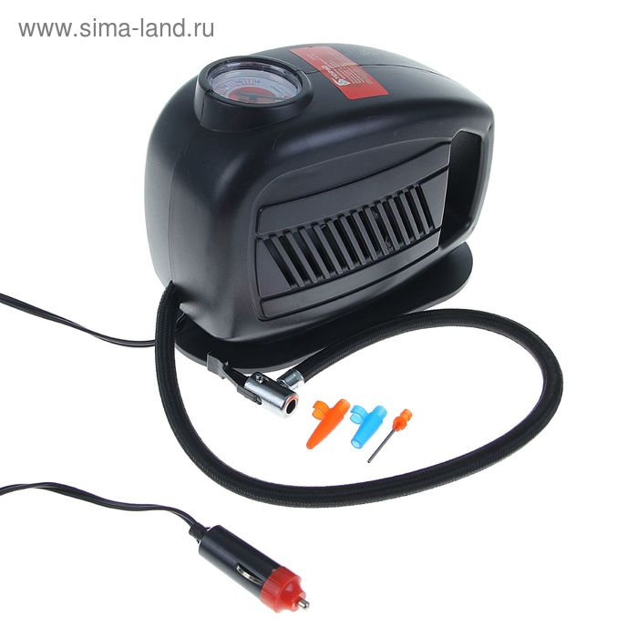 Компрессор автомобильный TORSO TK-105, 10 А, 18 л/мин, провод 3 м, шланг 65 см