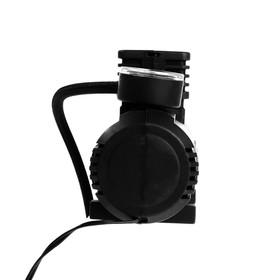 Компрессор автомобильный TORSO, 15 л/мин, провод 260 см, шланг 45 см, чёрный