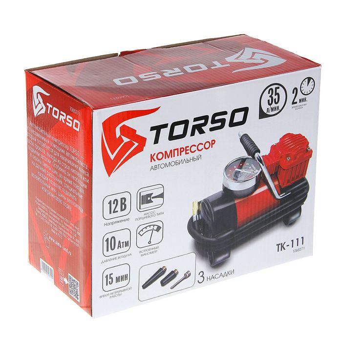 Компрессор автомобильный TORSO TK-111, 15 А, 35 л/мин, провод 3 м, шланг 1 м