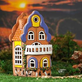 """Oil burner House """"Veranda"""", 18 cm, handmade, mixed"""