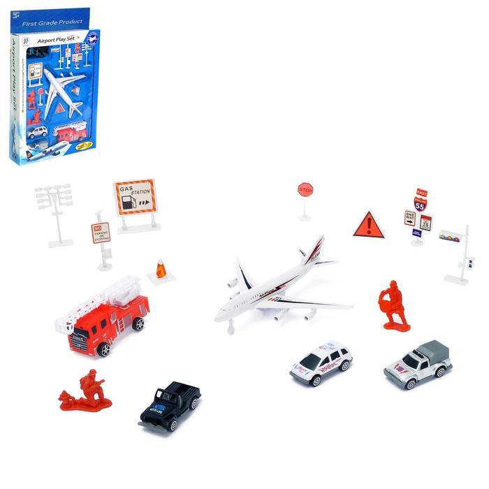 Игровой набор с инерционным транспортом «Аэропорт» МИКС - фото 105641492