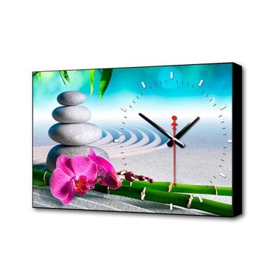 """Часы настенные, серия: Цветы, """"Розовый цветок"""", 37х60 см"""
