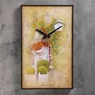 "Часы-картина ""Французский дворик"", 37х60 см ( стрелки микс)"
