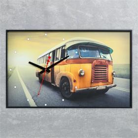 """Часы-картина """"Старый автобус"""", 37х60 см"""