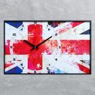 """Часы настенные, серия: Символ, """"Британский флаг"""", 37х60  см, микс"""