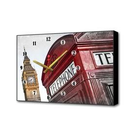 """Часы настенные, серия: Город, """"Символы Лондона"""", 37х60 см"""