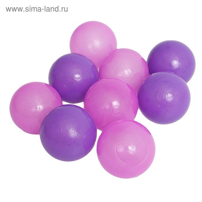 """Шарики для сухого бассейна """"Сливовые"""" с рисунком, диаметр шара 7,5 см, набор 9 шт."""