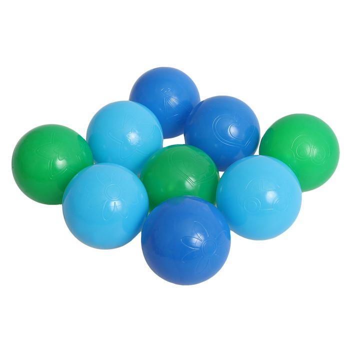 Шарики для сухого бассейна с рисунком, диаметр шара 7,5 см, набор 9 штук, цвет морской