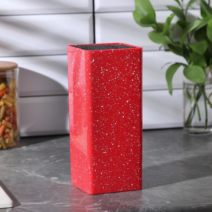 Подставка для ножей «Зефир», 22×10, с наполнителем, цвет красный