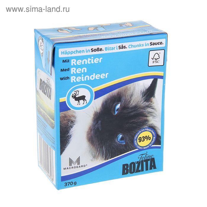 Влажный корм для кошек BOZITA Feline кусочки в соусе с оленем, 370 гр