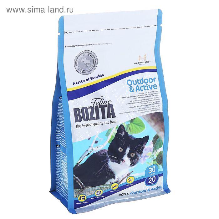 Сухой корм для активных кошек BOZITA Feline Funktion Outdoor & Active 400 гр
