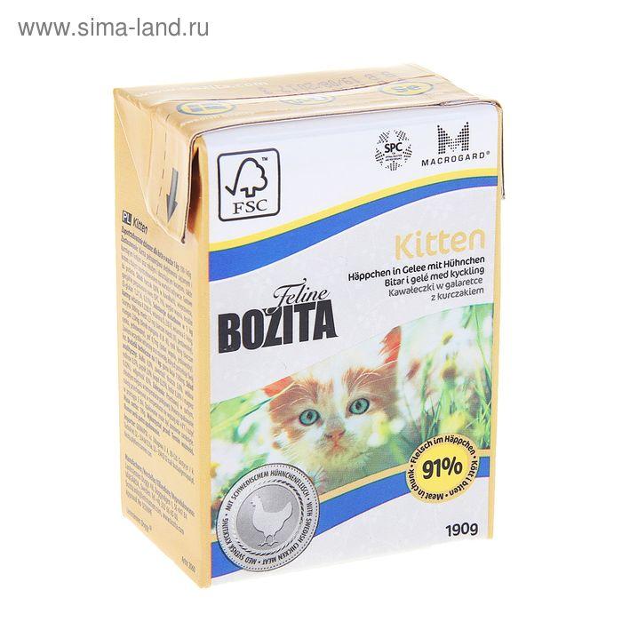 Влажный корм для ктят BOZITA Feline Funktion кусочки в желе, 190 гр