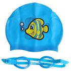 Набор для плавания:шапочка + очки, от 7 лет, цвета МИКС, 26026 Bestway