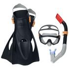 Набор для плавания Meridian, для взрослых, маска, ласты, трубка, от 14 лет, размер 41-46, цвет МИКС, 25020 Bestway